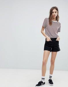 Джинсовые шорты с подвернутым краем Noisy May - Черный