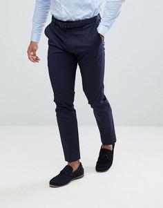 Темно-синие брюки скинни под смокинг River Island - Темно-синий
