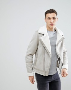 Куртка из искусственной овчины River Island Winter White - Белый