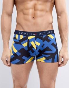 Желто-синие боксеры-брифы с логотипом Tommy Hilfiger - Желтый