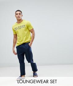 Пижамный комплект с желтой футболкой и темно-синими брюками Tommy Hilfiger - Мульти