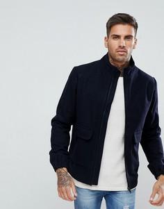 Куртка Харрингтон с добавлением шерсти Bellfield - Темно-синий