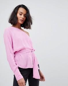 Топ на одно плечо с поясом на завязке Vero Moda - Розовый
