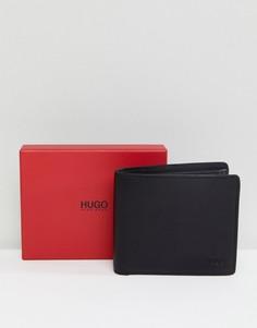 Черный кошелек из гладкой кожи HUGO - Черный