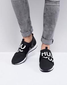 Черные кроссовки с логотипом HUGO - Черный