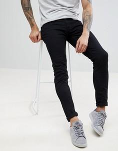 Черные саржевые брюки слим Farah Drake - Черный
