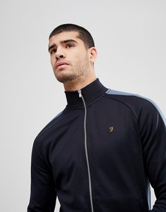 Темно-синяя облегающая трикотажная куртка на молнии Farah Irk - Темно-синий
