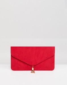 Клатч с кисточкой ASOS - Красный