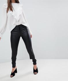 Зауженные джинсы с покрытием Vila - Черный