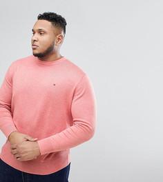 Розовый джемпер из хлопка и шелка Tommy Hilfiger PLUS - Розовый