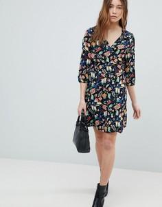 Платье с V-образным вырезом Only - Мульти