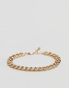 Золотистый браслет-цепочка ASOS - Золотой