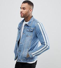 Джинсовая куртка с полосами на рукавах Liquor N Poker - Синий