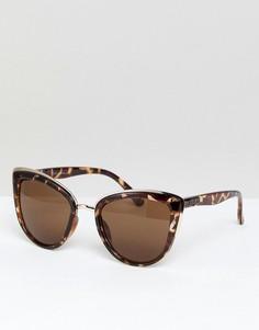 Солнцезащитные очки кошачий глаз в черепахой оправе Quay Australia My Girl - Коричневый