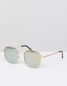 Круглые золотистые солнцезащитные очки Quay Australia Jezabell - Золотой