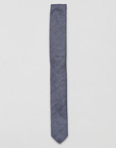 Синий фактурный галстук ASOS - Синий