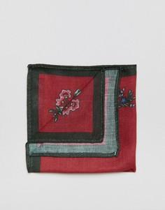 Красный платок для нагрудного кармана с цветочным принтом ASOS - Красный