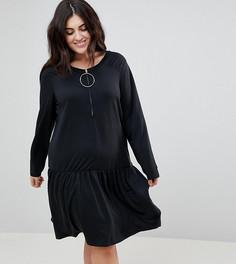 Короткое приталенное платье с кольцами Junarose - Черный