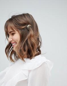 Заколка для волос с кованным эффектом Orelia - Золотой