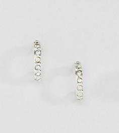 Миниатюрные серебряные серьги-кольца Liars & Lovers - Серебряный