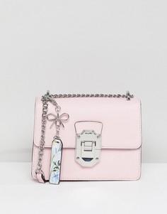 Розовая сумка через плечо с серебристой отделкой ALDO - Розовый