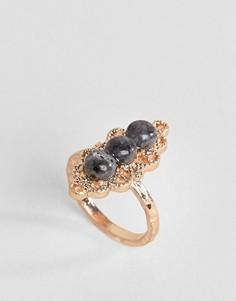 Кольцо с камнем ASOS - Золотой