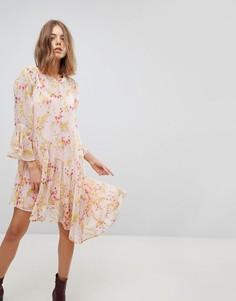 Асимметричное платье с цветочным принтом и оборками Vero Moda - Мульти