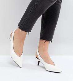 Туфли на каблуке-рюмочке с ремешком через пятку Monki - Белый