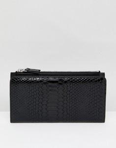Бумажник на молнии Monki - Черный
