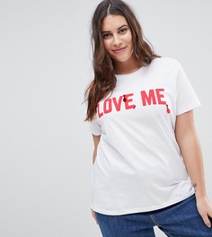 Футболка с принтом Love Me ASOS CURVE VALENTINES - Белый