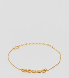 Серебряный позолоченный браслет ASOS - Золотой