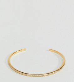 Позолоченный серебряный браслет-манжета ASOS - Золотой