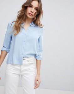 Рубашка из ткани шамбре JDY - Синий