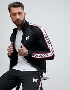 Черная спортивная куртка с логотипом Good For Nothing - Темно-синий