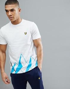 Белая футболка с принтом Lyle & Scott Fitness Douglas - Белый