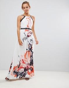 Платье макси с принтом Little Mistress - Мульти