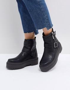 Ботинки в байкерском стиле ASOS APPETITE - Черный