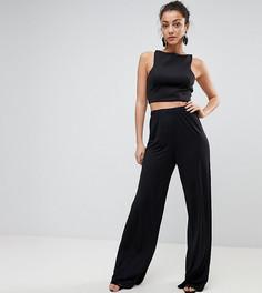 Широкие брюки ASOS TALL - Черный