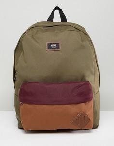Рюкзак цвета хаки Vans Old Skool II - Зеленый