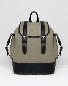 Парусиновый рюкзак цвета хаки River Island - Зеленый