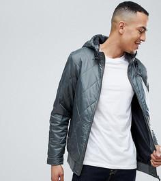 Стеганая куртка с капюшоном Ringspun TALL - Серый