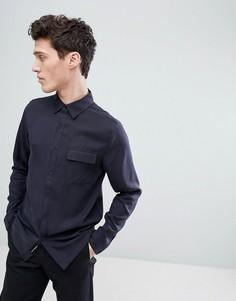 Рубашка с прямым подолом Native Youth - Темно-синий
