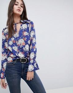 Блузка с цветочным принтом Vila - Синий