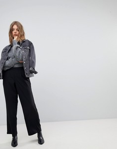 Широкие брюки с завышенной талией Vero Moda - Черный