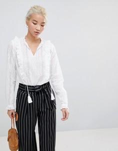 Блузка с оборками New Look - Белый