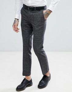 Серые облегающие брюки в клетку Harry Brown - Серый