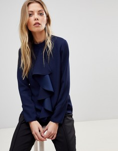 Блузка с оборкой Ted Baker Glowria - Темно-синий