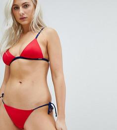 Бикини плавки-хипстеры с завязками по бокам Free Society - Красный