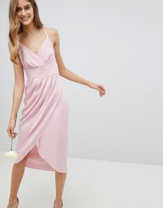 Платье миди с драпировкой Ted Baker - Розовый