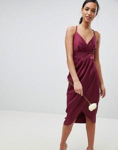 Платье миди с драпировкой Ted Baker - Красный